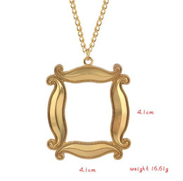 $enCountryForm.capitalKeyWord Australia - NEW Show Friends Photo Frame Gold Pendant Necklaces Central Park Cafe Monica's Double Side Door Necklace Gift For Best Friends