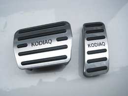 Pedals Brake Gas Australia - Auto Accessories Aluminium car pedals For SKODA Kodiaq AT Gas Brakes Foot Pedal Accelerator pedal Car Styling Accessories