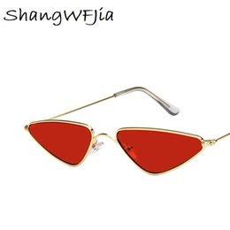 women stylish sunglasses Australia - Sunglasses Women Small cat Eye Stylish 2019 Fashion Metal Frame glasses Designer Vintage Female Sun Glasses oculos feminino