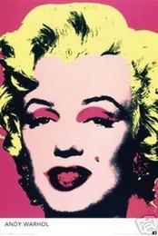 Marilyn Monroe Stickers For Walls Australia - MARILYN MONROE ANDY WARHOL Art Silk Poster 24x36inch 24x43inch 4865