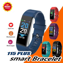 $enCountryForm.capitalKeyWord Australia - ID115 PLUS Smart Bracelet Sports Pedometer Color Screen Watch Fitness Running Walking Tracker Heart Rate Pedometer Smart Band