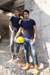 $enCountryForm.capitalKeyWord Australia - Mercerized new orchid cotton T shirt group dress polo shirt custom work clothes short sleeve lapel garment LOGO