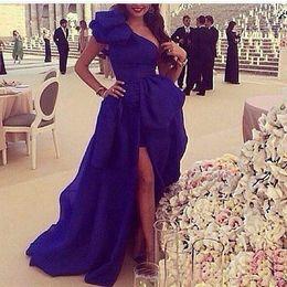 $enCountryForm.capitalKeyWord Australia - New Organza One shoulder Royal Blue Prom Dresses 2019 Dubai Kaftan Long Evening Dresses Pageant Party Gowns