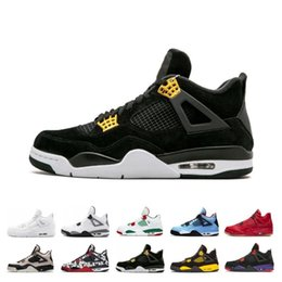 $enCountryForm.capitalKeyWord NZ - New Hot 4S Bred What The Basketball Shoes 30th Anniversary Laser Silt Red Splatter Singles Day Lightning Pure Money Oreo Men 4 Sneakers