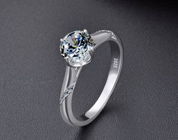 quality cubic zirconia wedding rings NZ - Wedding ring top quality S925 sterling silver cubic zirconia rings women's silver rings synthetic moissanite diamond solitaire ring DDS1265