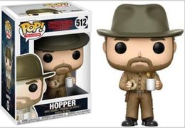shipping models Canada - China Funko pop stranger things Hopper #512 Vinyl Action Figure Collectible Model Toy doll for xmas gift toys frees shipping