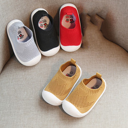 First walkers soFt sole prewalker shoes online shopping - Boys Girls Sneakers Soft Sole Prewalker Baby Shoes Knitted Toddler First Walkers Breathable for T Baby Designs M032