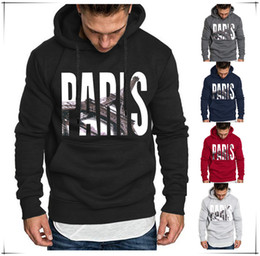 Large hip hop hoodies online shopping - Mens Hoodie Colors Paris Letter Printing Long Sleeve Sweatshirts Hip Hop Large Size Streetwear Asian Size S XL