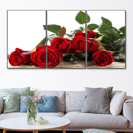 Art Canvas Prints Australia - 3 pieces high-definition print Rose canvas painting poster and wall art living room picture PF3-027