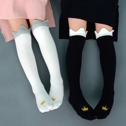 Toddler Girl Knee Socks Australia - Baby Girl Middle stocking Socks Toddler Princess Cotton Socks Spring Summer knee high socks 6Styles for 2-6Y