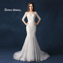 Capes winter wedding dress online shopping - Dubai Long Sleeves Lace Cape Style In Stock Wedding Dresses Bateau Neck Maternity Destination Arabic Dress A Line Bridal Ball Gown SW09