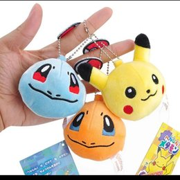 Tv keys online shopping - Plush Pokemons Keychain Pikachu Key Chain Fur Keyring Elves ball Keyring Johnny Turtle Plush Dolls lol