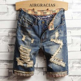 9d6f9021c9 Airgracias Mens Ripped Short Jeans Brand Clothing Bermuda Cotton Shorts  Breathable Denim Shorts Male New Fashion Size 28-40 Y19042604