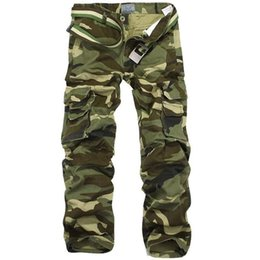 $enCountryForm.capitalKeyWord UK - Camouflage Pants Men Multi Pocket Cotton Military Cargo Camo Pants Pantalon Homme Mens Streetwear Overalls Army Track Trousers