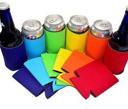 Toptan satış Katı Renk Neopren Katlanabilir Güdük Sahipleri Bira Soğutucu Çanta Şarap Gıda Kutular Için Kapak Bebek Besleme Araçları 8 Renkler Ücr ...