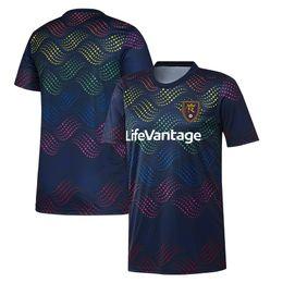 Top Football Jerseys UK - 2019 Men's MLS Salt Lake Navy Pride Pre-Match Top soccer jersey 19 20 Salt Lake MLS Real Navy Pride Pre-Match Shirt football shirt
