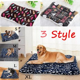 canopy dog beds Australia - Large Pet Dog Pad Cat Bed Puppy Cushion House Pet Soft Warm Kennel Dog Mat Blanket For Winnter