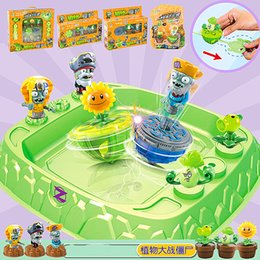 Wholesale NEW Plants V S Zombies Beyblade Burst fusion toupie bayblade burst with launcher Bucket plate toy kids gift