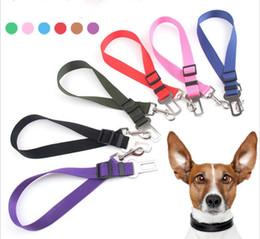 $enCountryForm.capitalKeyWord Australia - Adjustable Dog Car Safety Seat Belt Nylon Pets Puppy Seat Lead Leash Harness Vehicle Seatbelt 6 Color dc550