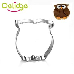 elephant mold UK - Wholesale- 1 pcs Cat Giraffe Owl Horse Pigeon Elephant Duck Shape Cookie Mold Cute Anmial Cookie Cutter Stainless Steel Mousse Ring Tools