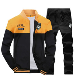 polo sets 2019 - Fashion Men Sportswear Hoodies Set New Autumn Suit Clothes Tracksuits Male Sweatshirts & Coats Polo Track Suits cheap po