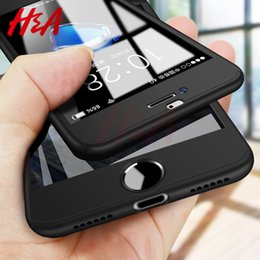 $enCountryForm.capitalKeyWord Australia - H&A Luxury 360 Full Cover Phone Case For iPhone 7 8 6 6s Plus 5 5s SE Protective Cover For iPhone X XR XS Max Case With Glass