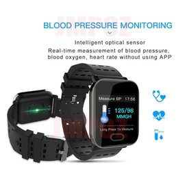 $enCountryForm.capitalKeyWord Australia - A6 Smart Watch Touch Screen Wristband Water Resistant Smartwatch Phone with Heart Rate Monitor Sport Running Calories pk fitbit xiaomi band