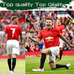 Wholesale men s games online – design 26th May in Old Trafford Red soccer jerseys BECKHAM GIGGS Soccer jerseys Senior football star reunion game Uniforms