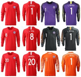 dc9618785 2018 2019 Chile Long Sleeve Jersey Men Soccer 7 SANCHEZ 8 VIDAL 11 VARGAS  17 MEDEL 1 BRAVO 10 VALDIVIA Football Shirt Kits