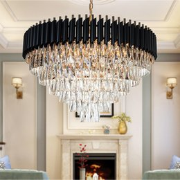 Chandeliers Australia - Good Quality K9 Crystal Chandelier Suspension Lighting Luminaires Hanging Lustre for Restaurant Crystal American Style Lamp