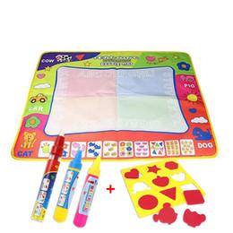 Aqua Doodle Pens Australia - Children Aqua Doodle Drawing Toys Mat Magic Pen Educational Toy 1 Mat + 2 Pen+EVA seal For children's Toys Mat Magic 80*60cm 46*29cm 88*58cm