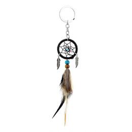 $enCountryForm.capitalKeyWord UK - Mini Dream Catcher Key Chain Handmade Feather Car Bag Hanging Accessories Hanging Decor Craft Gift Home Decor