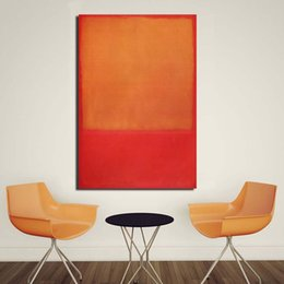 $enCountryForm.capitalKeyWord Australia - 1 Piece Rothko Classical Red Yellow Oil Painting Canvas Print Wall Art Picture Home Decor Living Room Modern No Frame