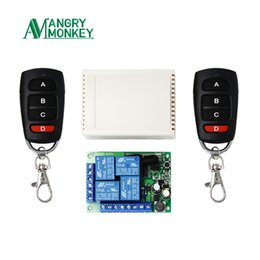 $enCountryForm.capitalKeyWord Australia - Angry Monkey 433mhz Remote Wireless Switch Ac 85v ~ 250v 220v 4 Ch Relay Receiver Module And 2pieces 433 Mhz Control J190523