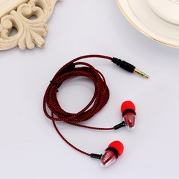 Reflective Cloth Wholesale Australia - In-ear Earphone 3.5mm Stereo Bass Headphone Noise Isolating Reflective Fiber Cloth Line For MP3 mp4 Earbuds Headset