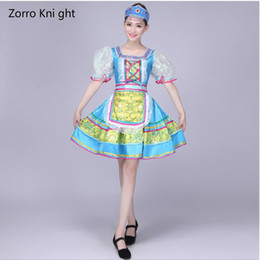 Wholesale classical dance dresses for sale - Group buy Folk Dance Costumes Classical Woman Traditional Russian Costume Chinese For Kids Dance Children Girls National For China Dress