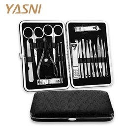 Best Art Tools Australia - 18 in 1 Stainless Steel Manicure set Professional nail clipper Finger Plier Nails art Beauty tools scissors knife Best gift