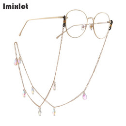 $enCountryForm.capitalKeyWord Australia - Fashion Water Drop Pendant Glasses Chain Crystal Eyeglasses Sunglasses Reading Glasses Cord Holder Neck Strap Rope For Eyewear