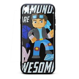Bumpers Phone Cases UK - IPhone 6 Case,iPhone 6S Case Diamond Lego DanTDM 9H Tempered Glass Back Cover TPU Bumper Shockproof Phone Case