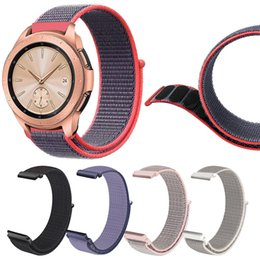 Discount samsung clock - Watchband Replacement Nylon Bracelet Watch Band Wrist Strap For Samsung Galaxy Watch 42mm 46mm Montre Strap Reloj Relogi