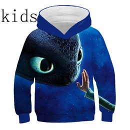 pink hoodies for boys Australia - Kids Boys Girls How to Train Your Dragon Toothless Cosplay Costume Hoodies Halloween Hooded Hoodies Sweatshirt Fashion For Child