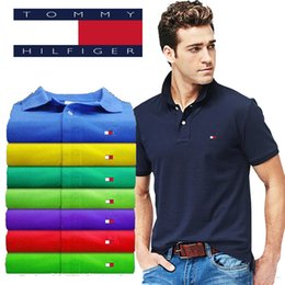 $enCountryForm.capitalKeyWord NZ - New 2019 Solid Color Summer Polo Shirts Men Brand LOGO Embroidery Cotton Short Sleeve Breathable Slim Fit Brand polos S-5XL Hot Sale