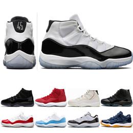 promo code e02da 8dbd4 Concord High 45 11 XI 11s Mütze und Kleid PRM Heiress Gym Chicago Platinum  Tint Retro Space Jams Herren Basketball-Schuhe Sport Sneakers