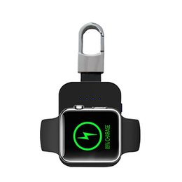China New Brand portable Keychain Wireless Charger Q1 Wireless Charger DC MINI Smart Watch power bank For Apple Watch iwatch 1 2 3 cheap rock power bank suppliers