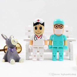 8gb Flash Drive Free Shipping Australia - Real capacity Cartoon Usb Flash Drive 8GB 32GB 64GB 128GB Doctor Usb Stick Nurse Pendrive Free Shipping