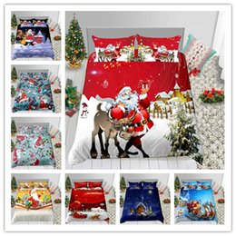 $enCountryForm.capitalKeyWord Australia - New Style Merry Christmas Santa Claus Bedding Set New Year Winter Duvet Cover Single Double King Size Holiday Gifts Bed Sheet