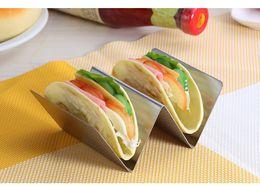 $enCountryForm.capitalKeyWord Australia - DHL stainless Steel Taco Holders Wave Shape Truck Tray Mexican Food Rack 2 Pancake Rack Stand Holders Baking tool