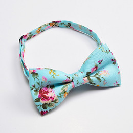 Blue Bowties Australia - Ikepeibao Men's Green Bow Tie Cotton Yellow Floral Neckwear Bowties For Men Red Wedding Party Fashion Accessories