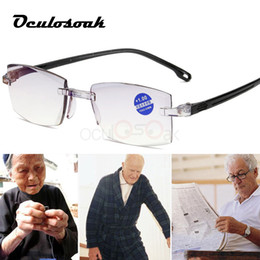 drive readers Australia - Fashionable Ultralight Rimless Reading Glasses Women Men Clear Lens Anti-blu-ray Computer Glasses Presbyopia Reader Glasses