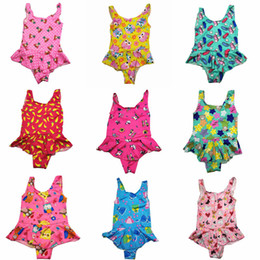 Säuglings- und Kleinkindmädchenjungen Einteiliger Badeanzug Kinder Bikini dreieckiger Rock 0 bis 5 Jahre Badebekleidung Süßer Baby-Badeanzug mit vielen Stilen im Angebot